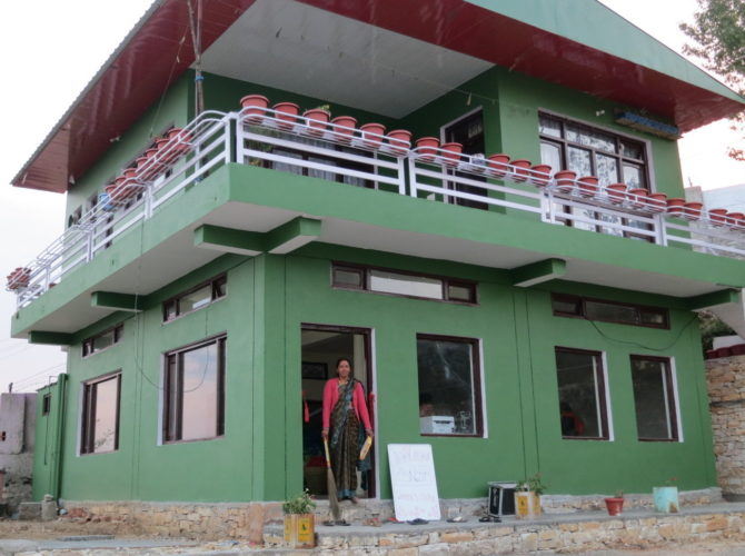 Himalayan Naari Center at Chaukori was constructed with the help of Crowd Funding.